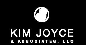 kim joyce white logo